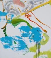 2018,70x80cm,布面油画、喷漆